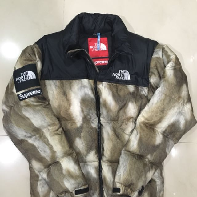 SUPREME X THE NORTH FACE 13 A/W FUR PRINT NUPTSE JACKET size S