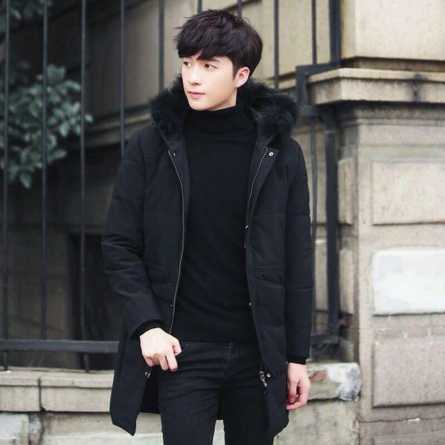 f5ac046695f0 Sylish Korean Winter Jacket with Black Fur (New)