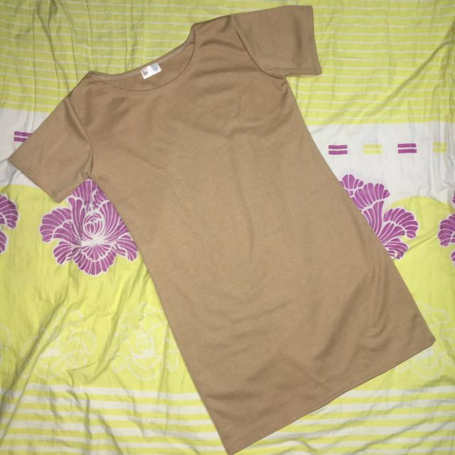 Tan Tshirt Dress by HTP