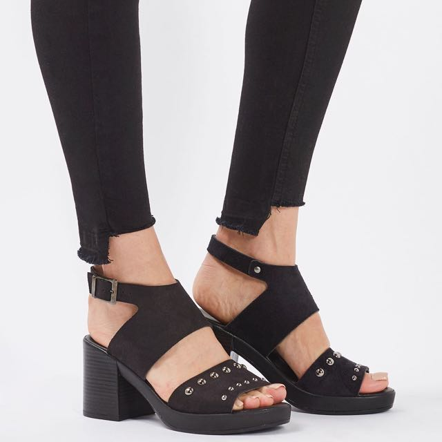 more photos best deals on official TOPSHOP Dice Studded Mid Sandals, Women's Fashion, Shoes on ...