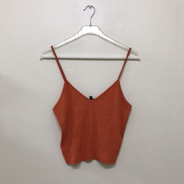 TOPSHOP Loose Fit Ribbed Textured Cropped Top