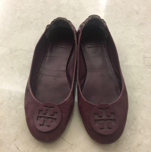 Tory burch flats sepatu