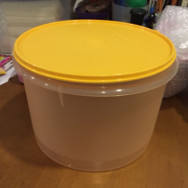 Tupperware round canister 5L (1)