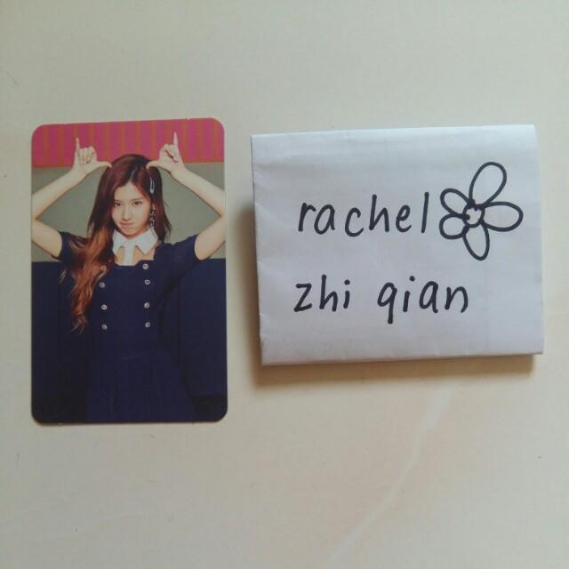 TWICE 4th Mini Album Sana Signal Pose Photocard