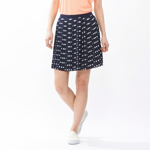 b4ec8fbd73 Uniqlo) Chiffon Pleated Print Mini Skirt, Women's Fashion, Clothes ...