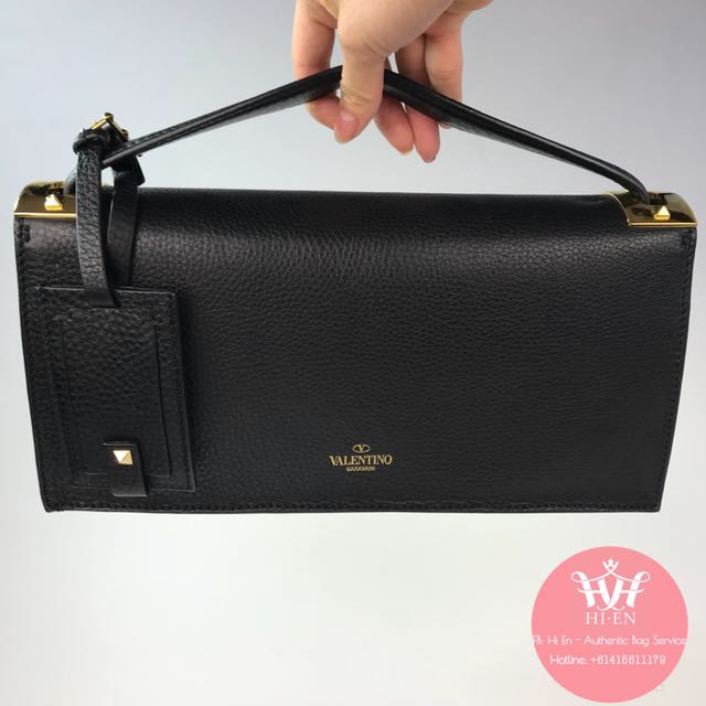 VALENTINO CLUTCH in black