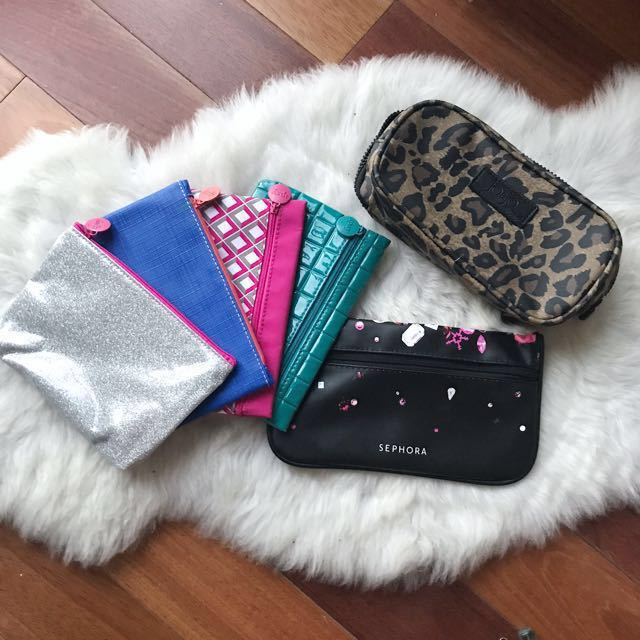 Variety of makeup bags