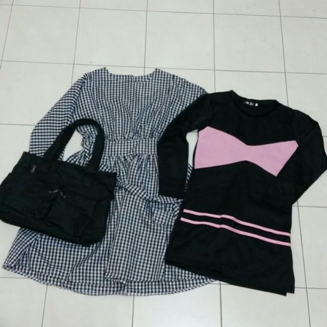 Vintage dresses &  shoulder bag (all)