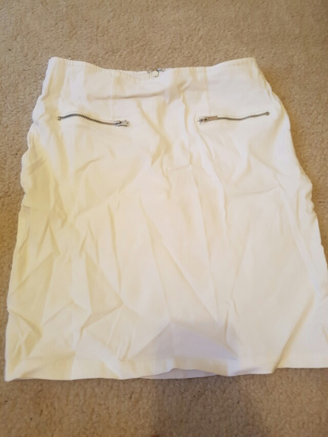 White skirt- needs an iron