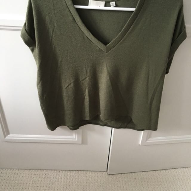 Wilfred army green top