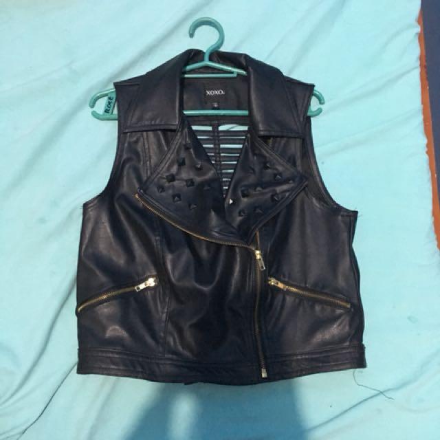 Xoxo Leather Bomber