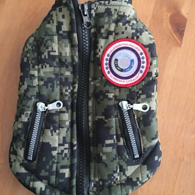 XS Army dog jacket