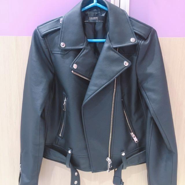 Zara 黑色經典皮衣