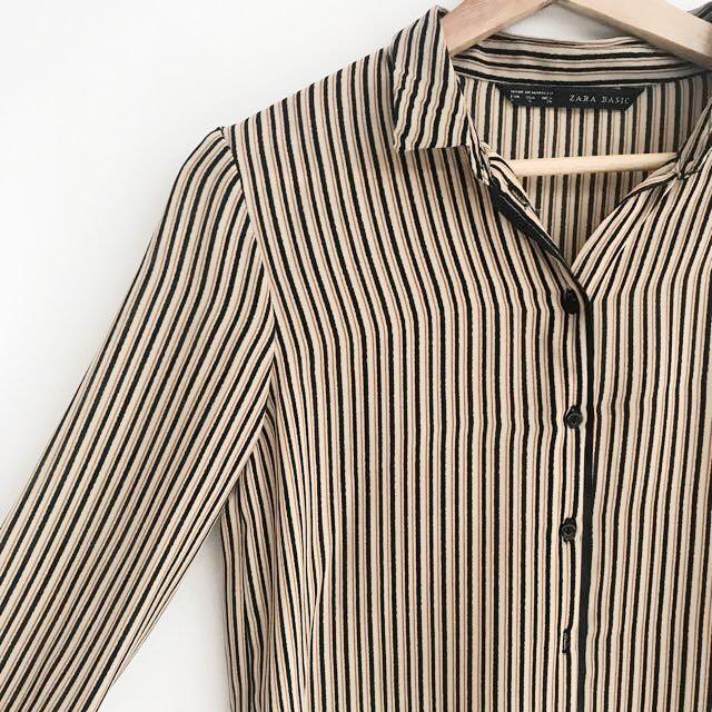Zara - Stripes Brown Kemeja