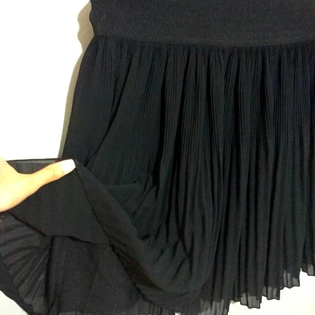 ZARA Black Drapery Skirt