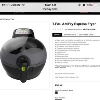 TFALL ACTIFRY express brand new with box paid $278 plus tax