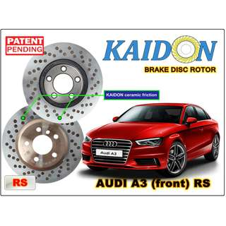 """AUDI A3 disc rotor KAIDON (front) type """"RS"""" spec"""