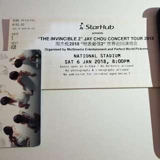 Jay Chou 2018 concert tickets (pair)