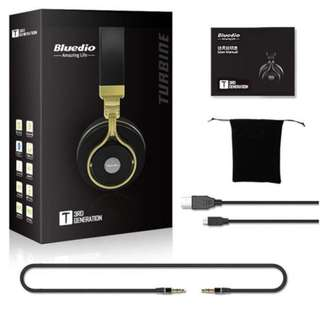 Offer - Bluedio T3 (Turbine 3rd) Extra Bass Wireless Bluetooth 4.1 Stereo Headphones(Gold)