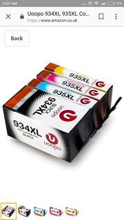 Uoopo 934XL 935XL Compatible Ink Cartridges Replacement