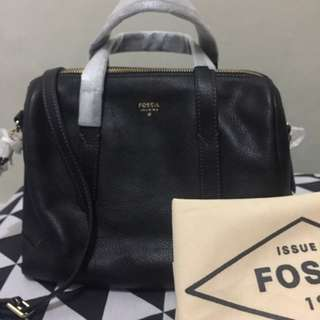 Fossil Black Leather ss