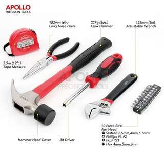 Apollo 16件多功能DIY工具包(紅色)