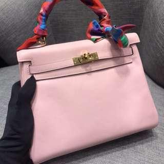 Hermes Kelly 25cm 3Q Sakura Pink