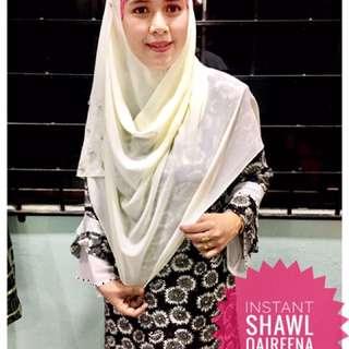 instant shawl labuh permata