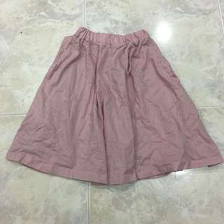 Dusty pink paperbag skirt