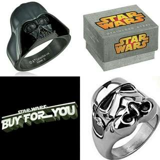 $368 代購 pre order item Darth vader Storm trooper Star Wars ring 戒指 首飾 星球大戰 黑武士 白兵