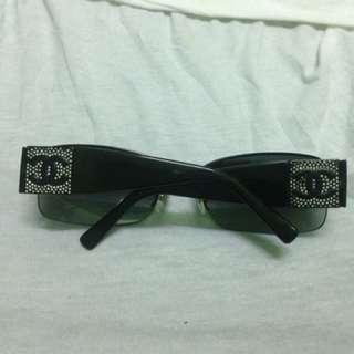 Authentic black Swarovski crystal CHANEL sunglasses