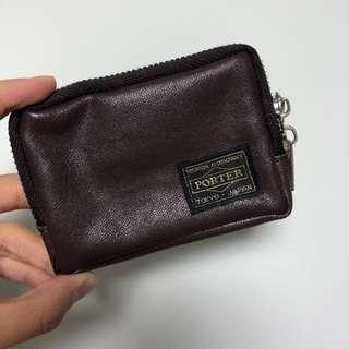 Porter coin bag 深啡色散子銀包