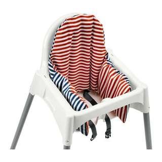 Ikea high chair cushion and 2x cover