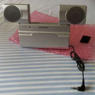 Vintage Sony Portable Speakers (very collectible)