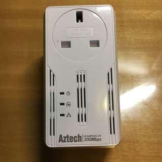 AzTech Homeplug AV 200Mbps HL-113EP 可插電