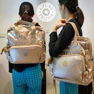 Kipling 泊金包 媽咪的後背包 附 尿布墊 後背包 素面後背包