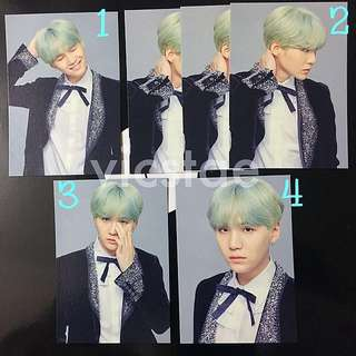 SUGA / MINI PHOTOCARDS / BTS THE WINGS TOUR -THE FINAL- OFFICIAL MD