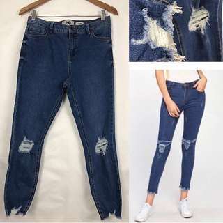 Ripped jeans navy