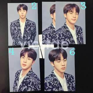JIN / MINI PHOTOCARDS / BTS THE WINGS TOUR -THE FINAL- OFFICIAL MD