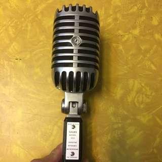 古董 Vintage Shure Model55S Unidyne Dynamic Microphone