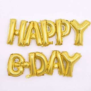 16'/ 40cm Happy B-Day Foil Balloons