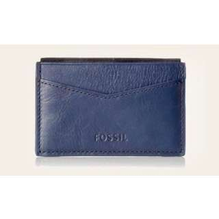 New Fossil Truman Card Holder Leather Wallet