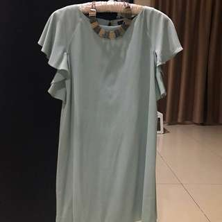 Zara Basic Pastel Mini Dress (Size S)