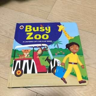 童書 英文書 Busy Zoo A ladybird lift-the-flap book