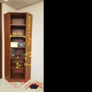 Ikea Billy Corner Bookcase / Shelf Unit (Brown)