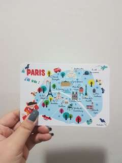 BN PARIS GLITTER POST CARD