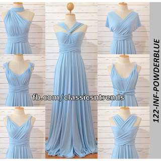 FREE SHIPPING! Infinity Dress in Powder Blue