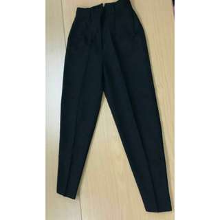 Theme 西褲 長褲 闊褲 黑色 black trousers pants japan 日本 日製