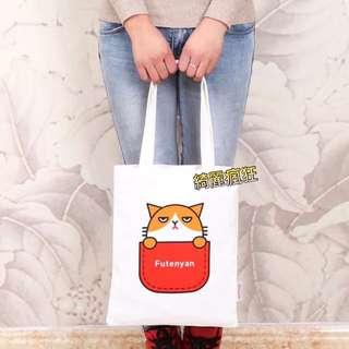 貓咪帆布包 側背包