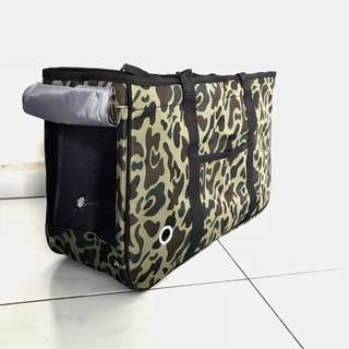 $26 High quality pet dog carrier bag cat camo cute luxury poodle puppy kitten green bag